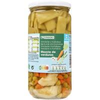 Mezcla de verduras sin sal EROSKI, frasco 425 g