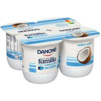 Yogur sabor coco DANONE, pack 4x125 g