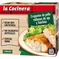 Crujientes de pollo relleno LA COCINERA, caja 204 g