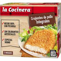 Crujientes de pollo integral LA COCINERA, caja 180 g