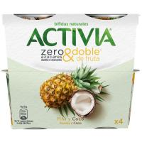 Activia de piña-coco DANONE, pack 4x115 g