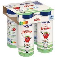 Yogur de beber kids fresa DANONE, pack 4x155 g