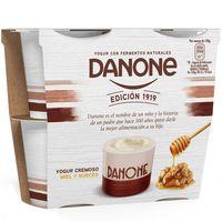 Yogur de miel-nueces DANONE, pack 4x120 g