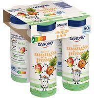Yogur de beber kids de piña-mango DANONE, pack 4x155 g