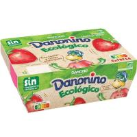 Danonino eco de fresa DANONINO, pack 6x55 g