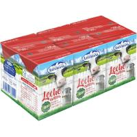 Leche entera ASTURIANA, pack 6x200 ml