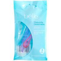 Maquinilla desechable depilación bikini belle, pack 3 uds.