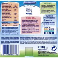 Yogolino sin azúcar de fresa-plátano NESTLÉ, pack 4x100 g
