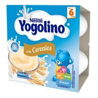 Yogolino de cereales-vainilla NESTLÉ, pack 4x100 g