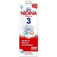 Leche líquida de contin. NESTLÉ Nidina Premium 3, brik 1 litro