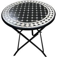Mesa de acero plegable 70x70x73 cm Malpica, 1 ud