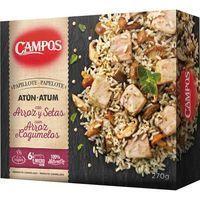 Papillote de atún-arroz-setas CAMPOS, caja 270 g