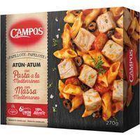 Papillote de atún-pasta mediterránea CAMPOS, caja 270 g