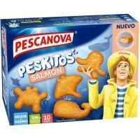 Peskitos de salmón empanados PESCANOVA, caja 300 g