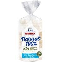 Pan molde natural 100% sin corteza BIMBO, paquete 450 g