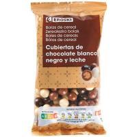 Grageas de chocolate cereales mix EROSKI, bolsa 160 g