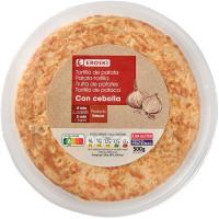 Tortilla fresca con cebolla EROSKI, 1 ud., 500 g
