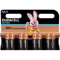 Pila alcalina power AA BL8 DURACELL, pack 8 uds.