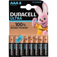Pila alcalina Ultra Power LR03 (AAA) DURACELL, pack 8uds