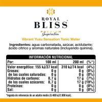 Tónica premium Yuzu ROYAL BLISS, botellín 20 cl