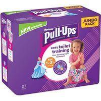Pull Ups niña 8-17 kg Talla 4 HUGGIES, paquete 27 uds.