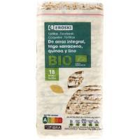 Tortitas de trigo sarrac.-quinoa-lino EROSKI BIO paquete 130 g