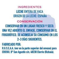 Leche entera BOMILK, brik 1 litro