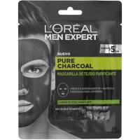 Mascarilla de tejido purificante charcoal MEN EXPERT, pack 1 ud.