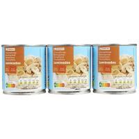 Champiñon laminado sin sal EROSKI, pack 3x115 g