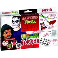Set maquillaje Horror: 6barras,lápiz,pincel,purpurina,pegatinas ALPINO, 1 ud