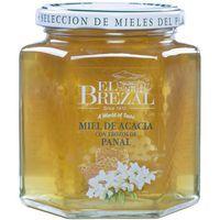 Miel de acacia con panal EL BREZAL, frasco 500 g