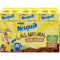 Batido de cacao all natural NESQUIK, pack 3x180 ml