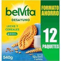 Galleta con leche y cereales FONTANEDA Belvita, caja 540 g
