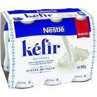 Kefir natural NESTLÉ, pack 6x100 g