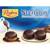 Nevaditos bañados de chocolate negro REGLERO, caja 480 g