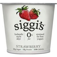 Yogur 0% fresa SIGGI'S, tarrina 150 g