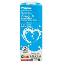 Bebida láctea omega3 EROSKI, brik 1 litro