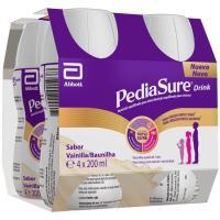 Preparado alimenticio de vainilla PEDIASURE, pack 4x200 ml