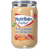 Potito de pollo-ternera con verduritas NUTRIBEN, tarro 235 g