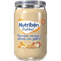 Potito de manzana-naranja-plátano-galleta NUTRIBEN, tarro 235 g