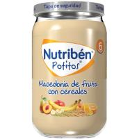 Potito de macedonia de frutas con cereales NUTRIBEN, tarro 235 g
