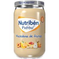 Potito de macedonia de frutas NUTRIBEN, tarro 235 g