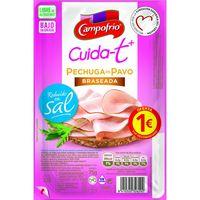 Pechuga de pavo braseada CAMPOFRIO Cuidat+, bandeja 75 g