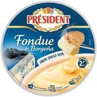 Fondue de borgoña de queso azul PRESIDENT, tarrina 175 g