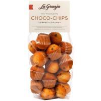 Mini-magdalenas choco-chips LA GRANJA, bolsa 250 g