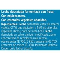 Reductor colesterol para beber sabor fresa EROSKI, pack 6x100 ml