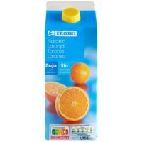 Bebida de naranja sin azúcar EROSKI, brik 1,75 litros
