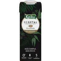 Bebida de almendras sin azúcar añadido KAIKU, brik 1 litro