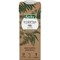Bebida de avena sin azúcar añadido KAIKU, brik 1 litro