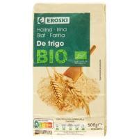 Harina de trigo ecológica EROSKI, paquete 500 g